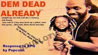 MAVADO  DEM DEAD ALREADY  Popcaan Diss, word for word break down