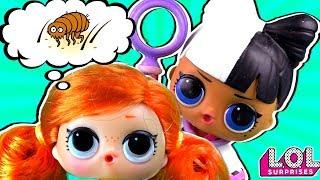 Доктор в шоке! У Скейти вши?!? Мультик про школу и куклы лол сюрприз LOL dolls