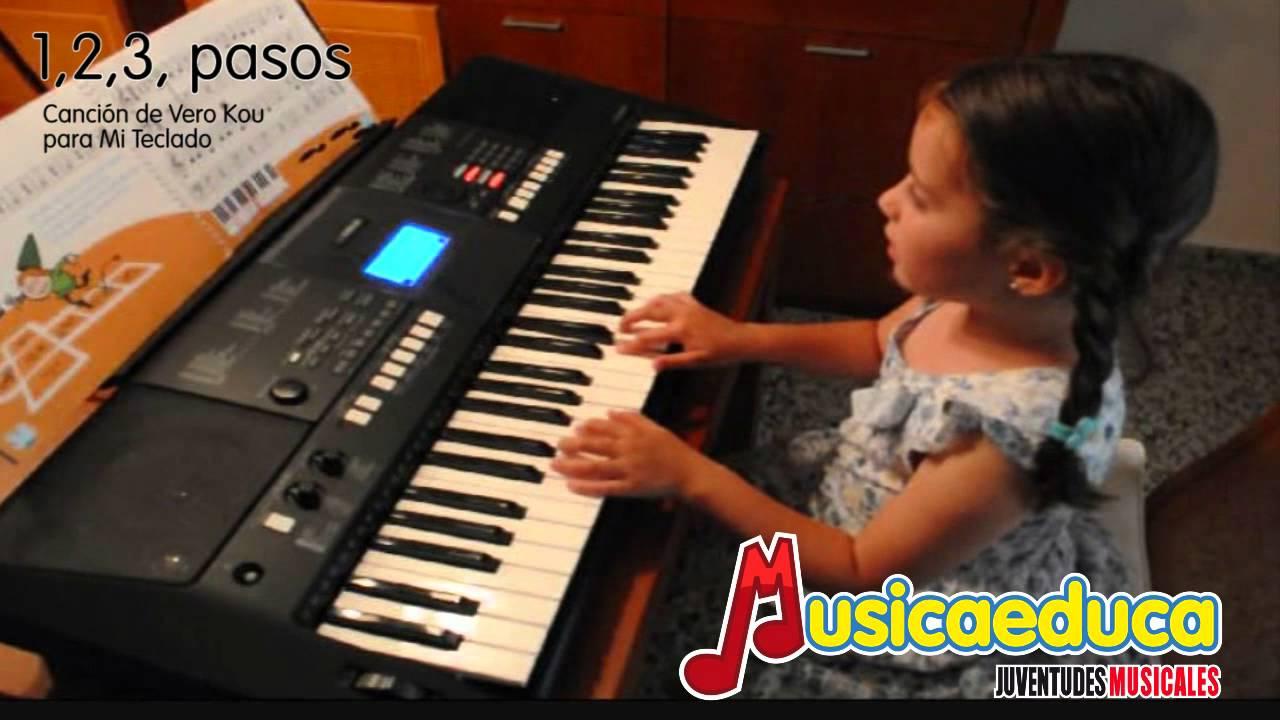 1, 2, 3 pasos - Mi Teclado 1 - Canción infantil