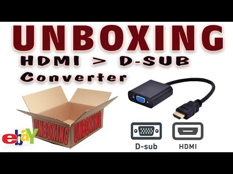 UNBOXING -  HDMI- D-SUB átalakító