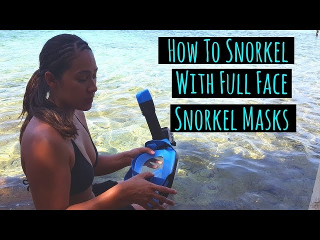 How To Snorkel With A Full Face Snorkel Mask - Tips for Easy Snorkeling!