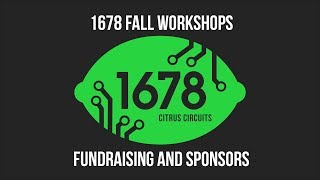Fall Workshops 2018 - Fundraising and Sponsors