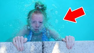 SHE ALMOST DROWNED! 😧