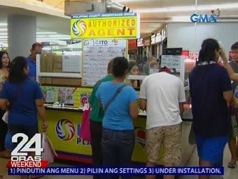 [GMA]  24 Oras: Mga gustong manalo sa P695-M, dagsa sa mga lotto outlet