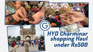 HYDERABAD Street Shopping |Things to buy from Charminar | Incredible India