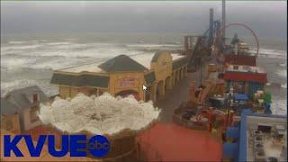 Hurricane Laura: Live look at Galveston Pier | KVUE