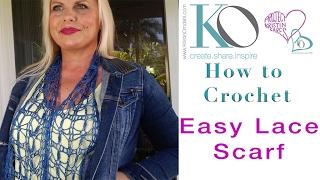 Easy Crochet Lace Scarf Be So Fine TIDBITS