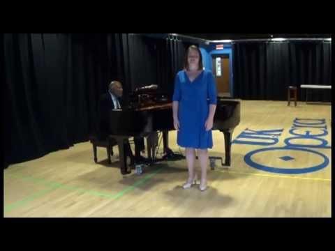 """Laura Salyer, Soprano, performing """"La canzone del'Ape."""""""