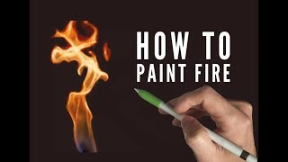 Procreate painting tutorial - HOW TO PAINT FIRE - on an iPad Pro with Apple Pencil
