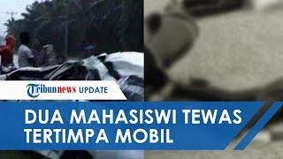 Kecelakaan Maut di Langkat, Dua Mahasiswi Tewas Tertimpa Mobil Avanza yang Pecah Ban