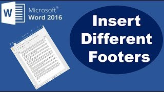 How to Insert Different Footers in Word 2016 Document