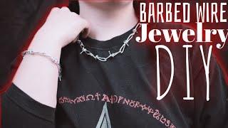 2 Ways To Make Barbed Wire Jewellery - GOTH DIY   Radically Dark  