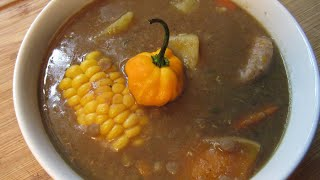 A Hearty Lentils Soup Jamaican Style