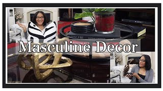 Masculine Home Decor | Updated Bachelor Space