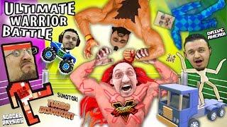 ULTIMATE WARRIOR CHALLENGE!  Duddy vs. Uncle Crusher! Turbo Dismount, Sumotori, Street Fighter + Mo