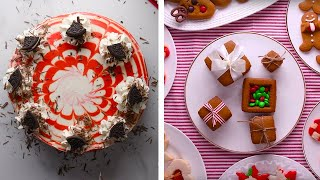 Festive Red Velvet Cheesecake And Other Holiday Recipes! | Easy Dessert Recipe Ideas By So Yummy