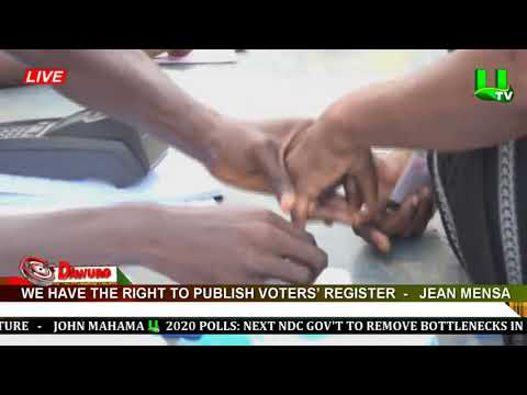 We've the right to publish voters' register – Jean Mensa