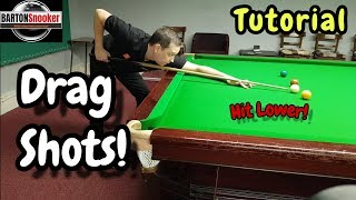 Snooker Lesson Drag Shots - Coaching Tutorial