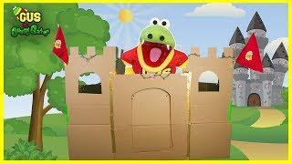 Giant Castle Box Fort Challenge! DIY cardboard crafts