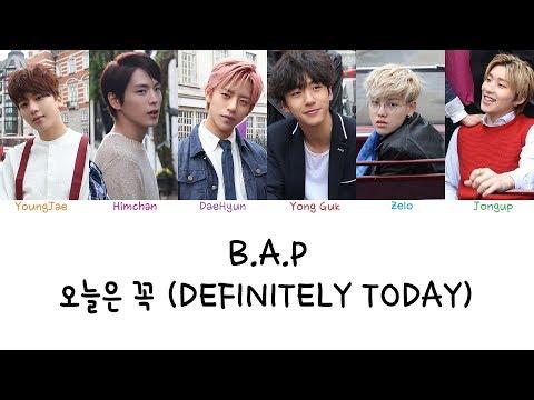 B.A.P - 오늘은 꼭 (Definitely Today) (Color coded lyrics Han|Rom|Eng)