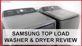 Samsung TOP LOAD Smart Washer and Dryer REVIEW!