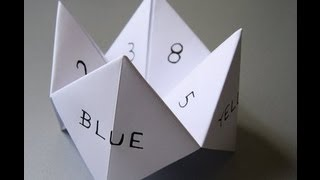 How To Make A Paper Fortune Teller!