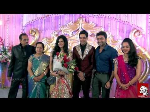 Actor Bharath - Jeshly Wedding Reception