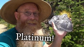 Prospecting for High Grade Platinum ore.