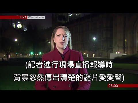 新聞直播時 背景出現謎之聲 女主播仍敬業地繼續播報新聞