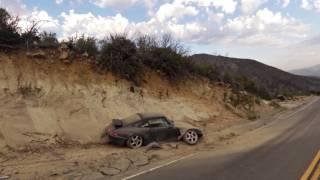 Angeles Crest Porsche Crash