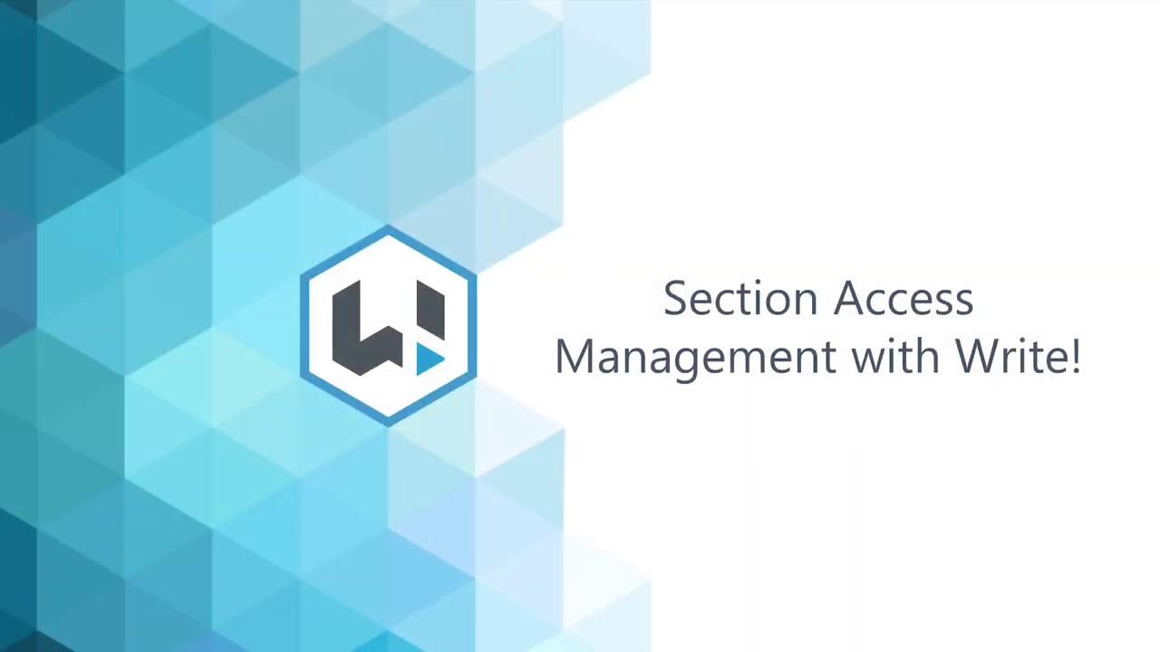 Section Access Management with Write!