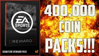 400,000 COIN PACKS!!! - 4X SIGNATURE PACK OPENING - MUT 17