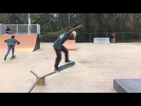 Adam Gonzalez skateboarding Flagler Beach Skatepark (wadsworth park) march 2018