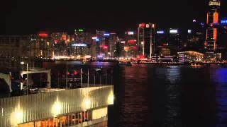 Video : China : Hong Kong 香港 : Symphony of Lights and sail away - video