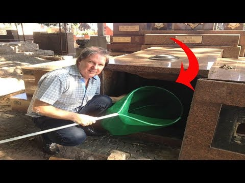 Brave Man Crawling Inside Of A Tomb ,what he found…OMG