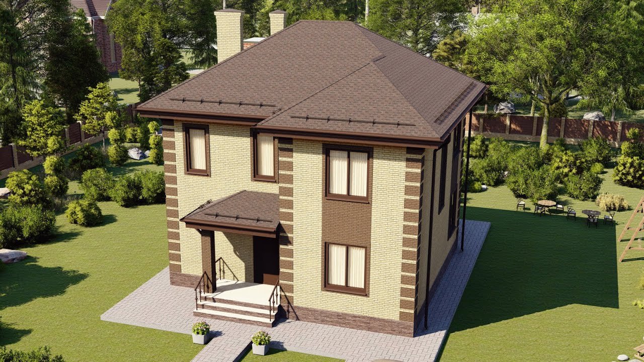 Проект дома 126-D, Площадь дома: 126 м2, Размер дома:  10x9,8 м