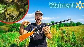BULLFROG HUNTING with Walmart's CHEAPEST BB GUN!!! (Catch Clean Cook)