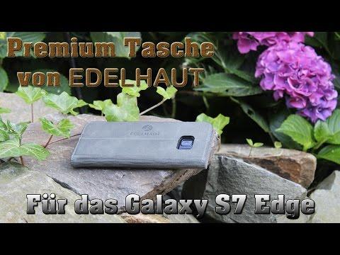 Edelhaut Premium Echtleder Tasche für das Samsung Galaxy s7 Edge 4K