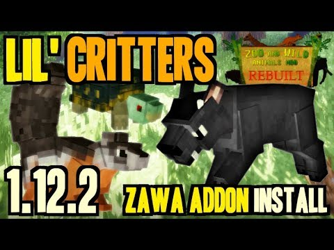 LIL' CRITTERS MOD 1.12.2 minecraft - how to download and install [Zoo&WildAnimals 1.12.2 addon]