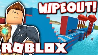 ROBLOX WIPEOUT: WORLD'S LARGEST OBSTACLE COURSE!!
