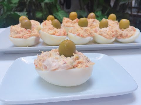 Huevos rellenos con Monsieur Cuisine