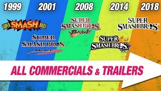 All Super Smash Bros. TV Commercials and Trailers Compilation (1999-2018)