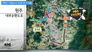 [KBS뉴스춘천] '혁신-기업도시' 도로 조기 개통