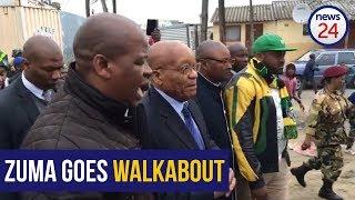 WATCH: Zuma Goes Walkabout In Lwandle