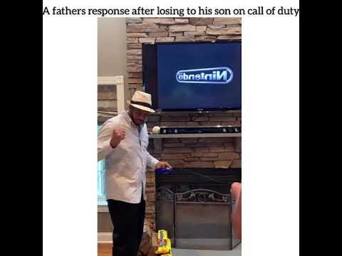 Fathers response to losing to his son at Call of Duty