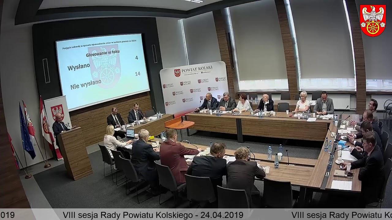 Zdjęcie do VIII Sesja Rady Powiatu Kolskiego