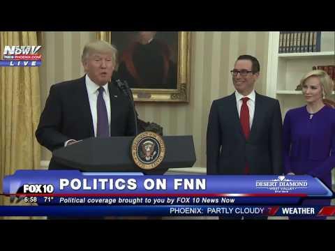 President Trump and Vice-President Pence Swearing In Steven Mnuchin