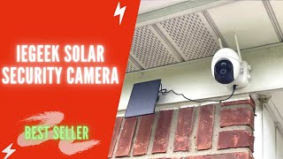 ieGeek Solar Security Camera Outdoor Review & Instructions 2021 | ieGeek Wireless 360° PTZ Camera