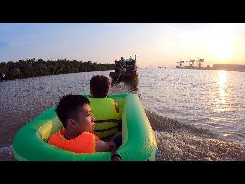 NTN - 4K Thử Lướt Sóng Bằng Bể Bơi Mini  ( Surfing with mini pool )