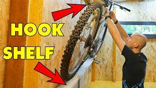 Cheap & Space Saving Bike Hanger On The Wall. Bike Storage DIY.